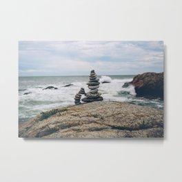 Balance by the Sea Metal Print