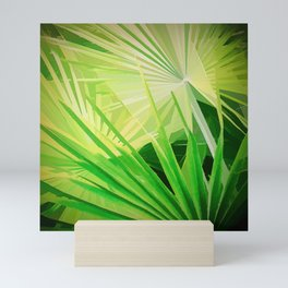 Fan Palm Abstract Mini Art Print