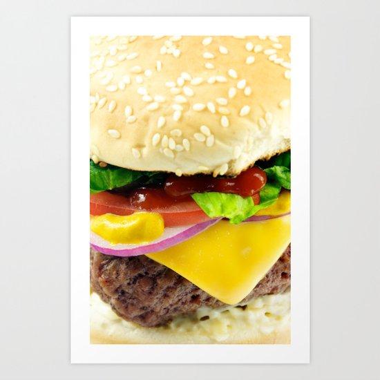 Cheeseburger Art Print