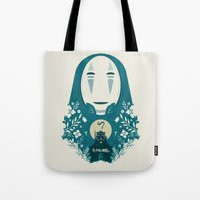spirited away Tote Bags featuring Spirited by Duke Dastardly
