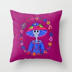 Catrina Doña Adela Throw Pillow