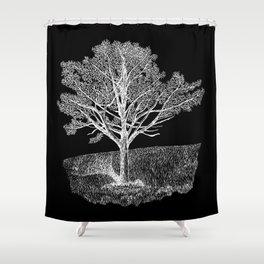 Elm Tree on Hillside Shower Curtain