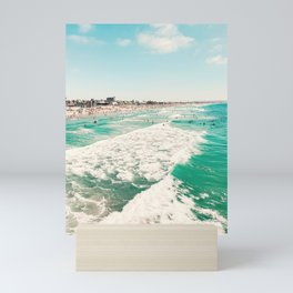 Pacific Beach scene from the Pier, San Diego, California Mini Art Print