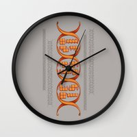 gaming Wall Clocks featuring Gaming DNA by Doodle Dojo