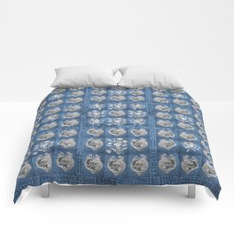 Hearts and Flowers Comforters