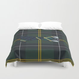Plaid on Plaid Duvet Cover