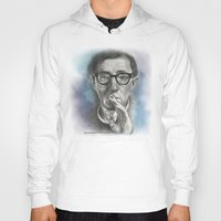 woody allen Hoodies featuring Woody Allen by Magdalena Almero