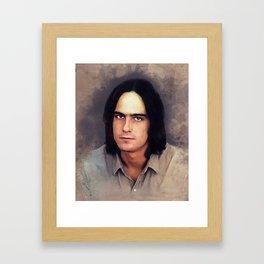 James Taylor, Music Legend Framed Art Print