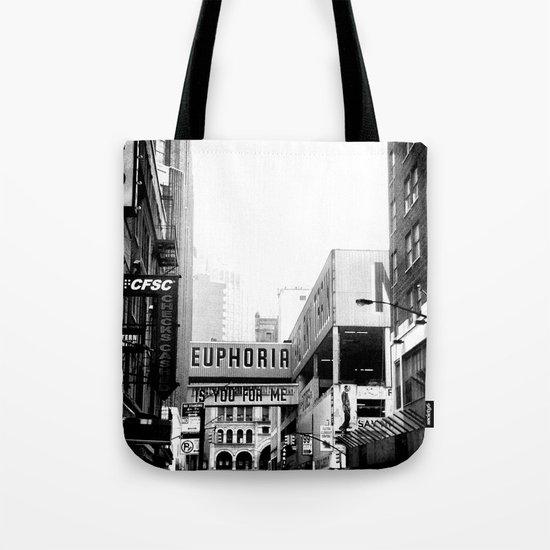 Euphoria Black & White Tote Bag