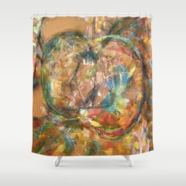 Paradise Apple Shower Curtain