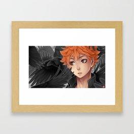 Haikyuu!! - baby crow Framed Art Print