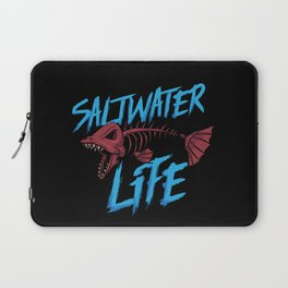 Saltwater Life Fishing Shirt For Fisherman Angler Laptop Sleeve