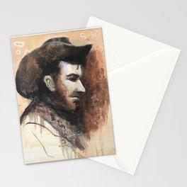 Pail, bearded cowboy Stationery Cards