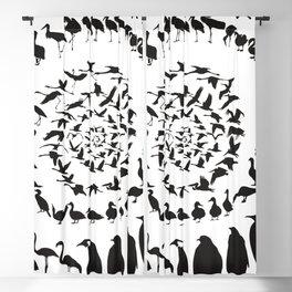 Waterfowl birds in a spiral Blackout Curtain