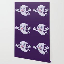 Cute Retro Ghost Wallpaper