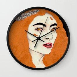Gold Classy Woman Wall Clock