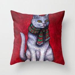 Holiday Yule Cat Jólakötturinn Throw Pillow