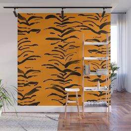 Tiger Skin Watercolor Pattern Wall Mural