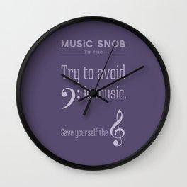 Bass-ic Music — Music Snob Tip #310 Wall Clock
