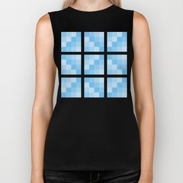 Four Shades of Turquoise Square Biker Tank