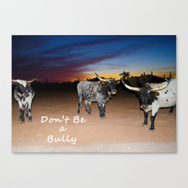 Don't Be a Bully 2 Canvas Print