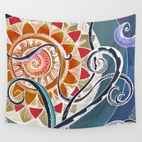 lotus Wall Tapestries featuring Lotus by brenda erickson