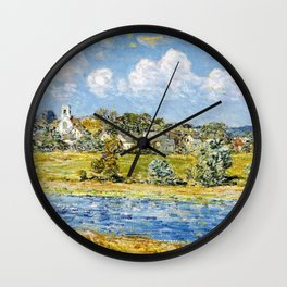 Landscape At Newfields, New Hampshire - Digital Remastered Edition Wall Clock