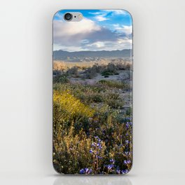 Springtime superbloom in the Mojave Desert, with wildflowers iPhone Skin