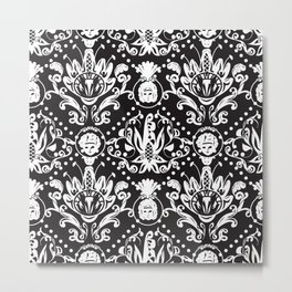Baroque Seamless Pattern Metal Print