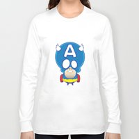 captain Long Sleeve T-shirts featuring Captain by John O'Connor