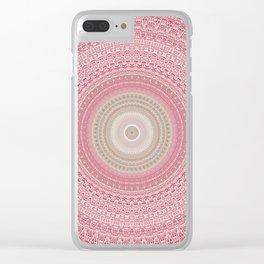 Gold Rose and Blush Boho Mandala Clear iPhone Case
