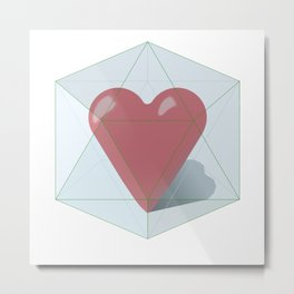 Guarded Heart Metal Print