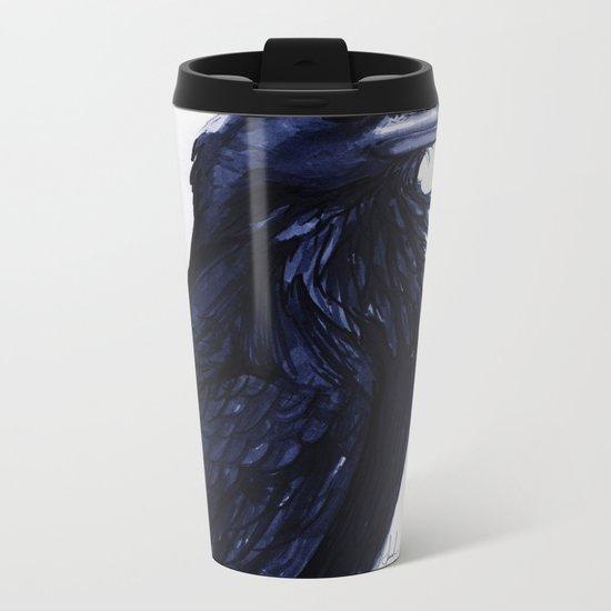 .Raven Metal Travel Mug