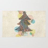 christmas tree Area & Throw Rugs featuring Christmas Tree by sinonelineman
