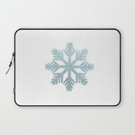 Blue Glitter Snowflake Laptop Sleeve