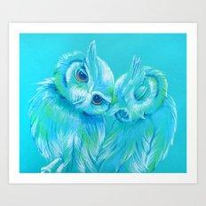 Lovey Owls Art Print
