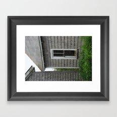 weathered window Framed Art Print