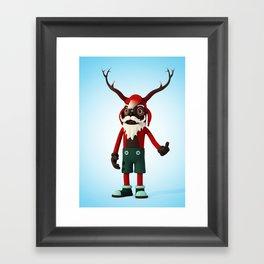 Deer Opa Framed Art Print