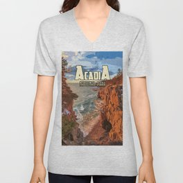 Acadia National Park at Maine Unisex V-Neck