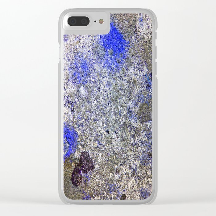 Blue Moss Clear iPhone Case