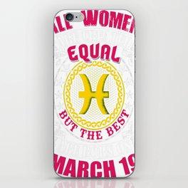 Best-Women-Born-On-March-19-Pisces---Sao-chép iPhone Skin