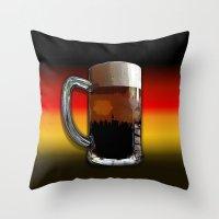 german Throw Pillows featuring German Sunset by G.B.Artdesign