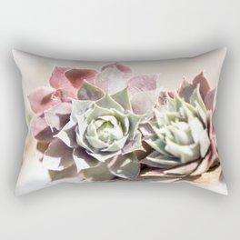 Succulents in the Sunlight Rectangular Pillow