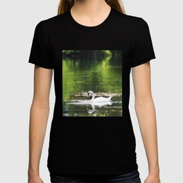 Young swan on the lake T-shirt