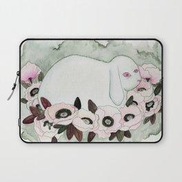 White Rabbit, Pink Poppies Laptop Sleeve