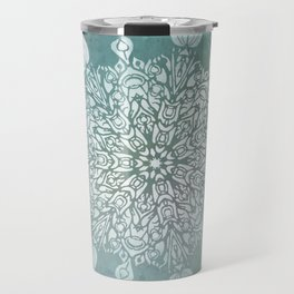 Turquoise Batik Mandala Float Travel Mug