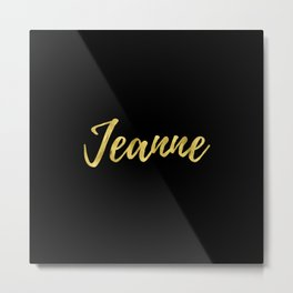 Jeanne - Gold Metal Print