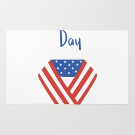 USA Patriot Day - September 11 - Day to pray and hope Rug