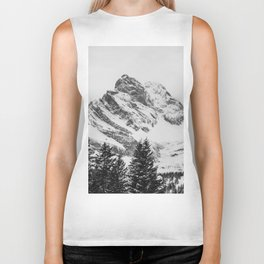 black and white like forest and snow Biker Tank