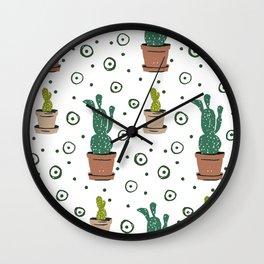 Prickly Pear Cactus Wall Clock